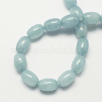 Natural Genuine Green Blue Aquamarine Tuble Columnar Cylindrical Loose Beads Barrel Column Beads 15.5 05427