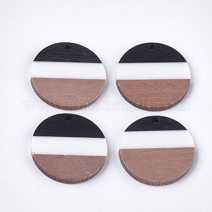 Colgantes de resina tricolor y madera de nogalRESI-S358-78D-1