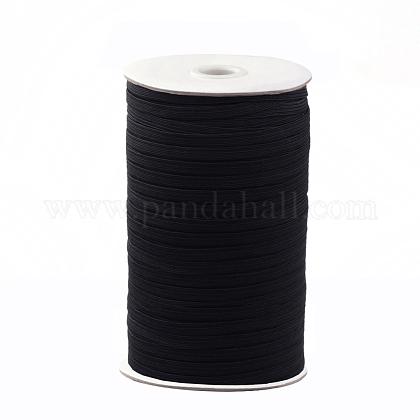 Cuerda elástica trenzada plana de 1/4 pulgadaX-EC-R030-6mm-02-1
