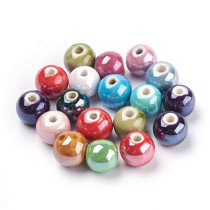 Handmade Porcelain Beads X-PORC-D001-14mm-M-1