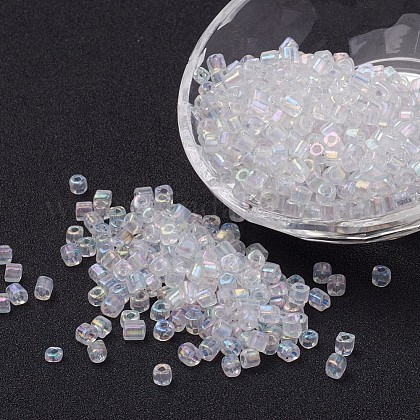 AB-Color Transparent Glass Seed Beads X-SEED-R026-B01-1