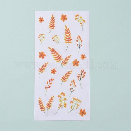 Pentas lanceolata deflers patrón pegatinas decorativasDIY-L030-03H-1
