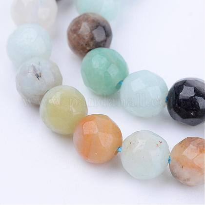Natural Amazonite Beads Strands G-Q462-8mm-42-1