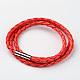 Braided Imitation Leather Cord Wrap BraceletsBJEW-L566-02B-1