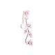 Platinum Plated Branch Body Jewelry Brass Navel Ring Belly RingsAJEW-EE0001-03B-1