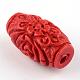 Carved Cinnabar BeadsCARL-Q004-76B-4