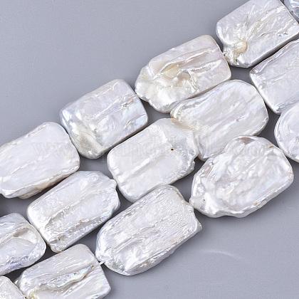 Hebras de perlas keshi de perlas barrocas naturalesPEAR-Q015-002A-01-1