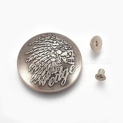 Equipaje correa de cuero aleación artesanal tornillo sólido remachePALLOY-WH0017-03ASP-1