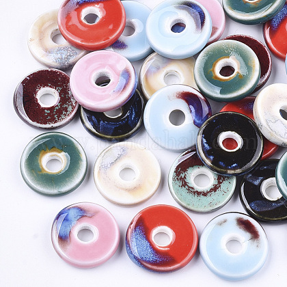 Abalorios de porcelana hechas a manoX-PORC-S498-54-1