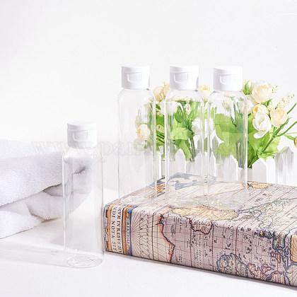 120ml透明プラスチックフリップトップキャップボトルセットMRMJ-BC0001-58-1