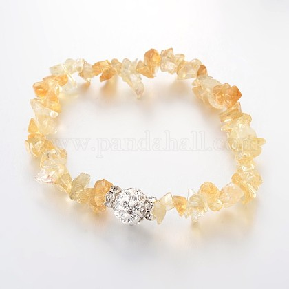Chips Natural Gemstone Beaded Stretch BraceletsBJEW-JB01989-03-1