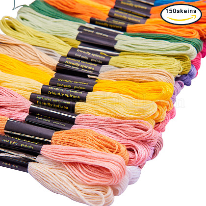 Caydoフルレンジ刺繍枠/刺繍糸/刺繍針付き刺繍スターターキットDIY-BC0006-02-1