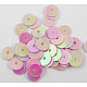 Plastic Paillette/Sequins Beads X-PVC6mm05Y-1