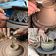 40pcs/Set Ceramic Pottery Clay Model Home Craft Art TOOL-BC0007-02-6