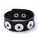 Leather Chunk Bracelet MakingAJEW-R014-3-2