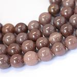 Natural Purple Aventurine Round Bead Strands, 6~6.5mm, Hole: 1mm; about 63pcs/strand, 15.5