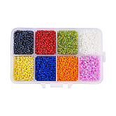 Mixed 12/0 Round Glass Seed Beads, Mixed Color, 2mm, Hole: 1mm; about 12500pcs/box