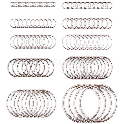 PandaHall Elite 260 pcs 10 Sizes Iron Double Loops Jump RingsPH-IFIN-G079-05P-1