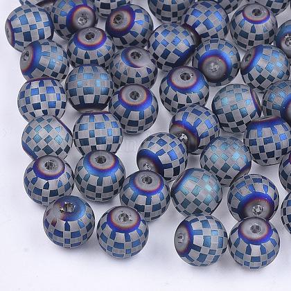 Abalorios de vidrio electroplateEGLA-S178-04C-1