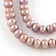 Hebras de perlas de agua dulce cultivadas naturalesPEAR-R013-11-1
