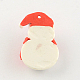 手作りクリスマススノーマンポリマー粘土ペンダントCLAY-R060-45-2