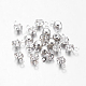 Platinum Plated Brass Middle East Rhinestone Flat Round Pendants, Clear, 6.5x4x3.5mm, Hole: 1mm
