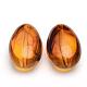 Imitate Amber Acrylic Beads, Oval, Goldenrod, 42x26x17mm, Hole: 2.5mm