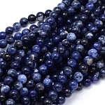 Round Natural Sodalite Beads Strands, 10mm, Hole: 1mm, about 39pcs/strand, 15.3inches