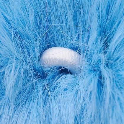 手作りののどのウサギのファーのポンポンボールカバーペンダントWOVE-F020-A-1