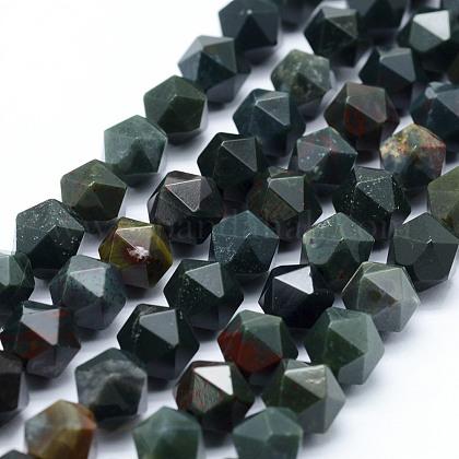 Perline Bloodstone naturale filiG-F523-16-10mm-1