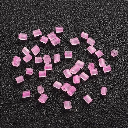 11/0 de dos abalorios de la semilla de cristal talladoCSDB138-1
