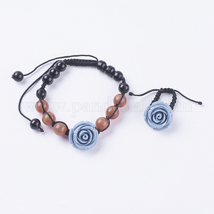 Fashion Cat Eye Jewelry Sets:Bracelets & RingsSJEW-JS00142-04-1