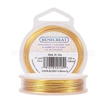BENECREAT 20-Gauge Tarnish Resistant Gold WireCWIR-BC0001-0.8mm-G-1