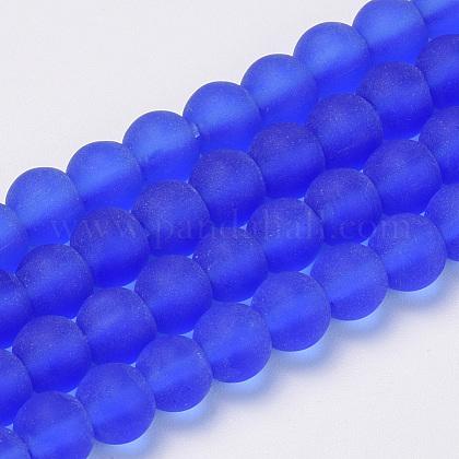 Chapelets de perles en verre transparente  GLAA-Q064-09-8mm-1