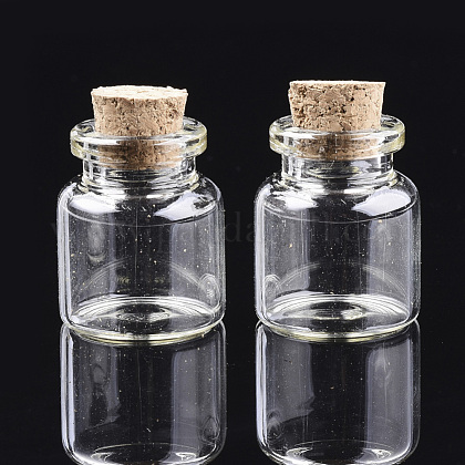 Botellas de vidrio frasco de vidrio grano contenedoresAJEW-S074-02D-1