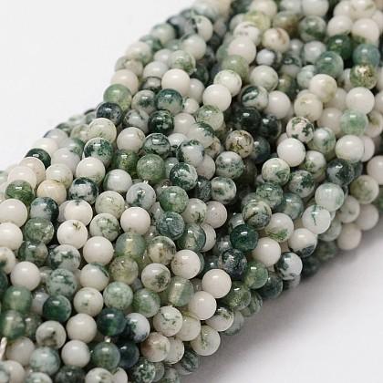 Натуральные зеленые пятна яшмовых нитейG-N0192-01-2mm-1