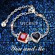 SHEGRACE® Adjustable 925 Sterling Silver Finger Ring ChainJR618B-4