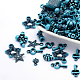 Assorted Antique Style Acrylic Beads, For Jewelry Making, Mixed Shapes, DodgerBlue, 8~25x7~15x4~15mm, Hole: 1~3mm