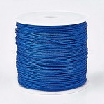 Nylon Thread, Nylon Jewelry Cord for Custom Woven Jewelry Making, Blue, 0.8mm; about 45m/roll