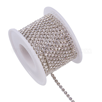 Cadenas de strass Diamante de imitación de bronceCHC-T001-SS10-01S-1