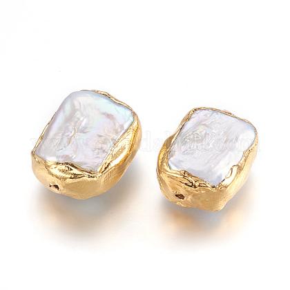 Perlas naturales abalorios de agua dulce cultivadasPEAR-P058-01G-1