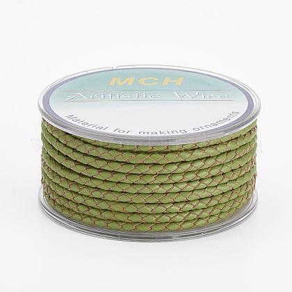 Environmental Braided Leather Cord OCOR-L035-3mm-E03-1