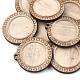 Wooden Pendant Cabochon SettingsWOOD-S044-16C-2