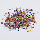 Glass Seed Beads, Mixed Color, 2~4.5x1~5mm, Hole: 0.5~1mm; about 1750pcs/50g