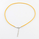 2mm Faux Suede Cord Necklace Making with Iron Chains & Lobster Claw ClaspsNCOR-R029-M-4