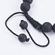 Nylon ajustable pulseras de abalorios trenzado del cordónBJEW-F308-55G-3