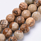 Natural Picture Jasper Beads Strands G-S281-01-6mm-1