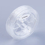 Flat Elastic Crystal String, Elastic Beading Thread, for Stretch Bracelet Making, Clear, 0.6mm, 15m/roll