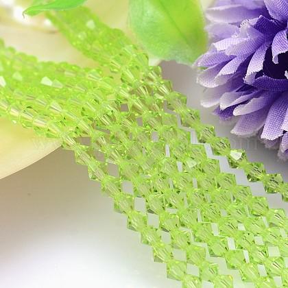 Bicone facetas de imitación de cristal austriaco filamentos del grano de cristalG-PH0007-17-6mm-1