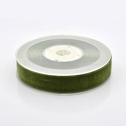 Ruban de velours en polyester pour emballage de cadeaux et décoration de festivalSRIB-M001-19mm-570-1